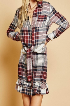SAGE THE LABEL Plaid Top - Alternate List Image