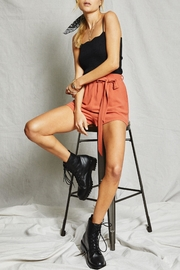 SAGE THE LABEL Ribbed Scalloped Tank - Side cropped