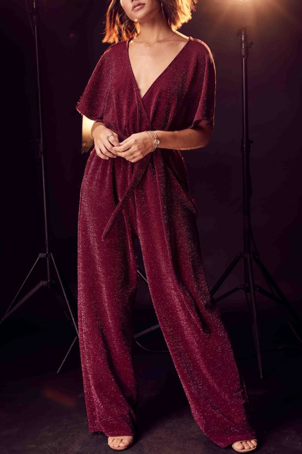 SAGE THE LABEL Sleepless Nights Jumpsuit - Front Full Image