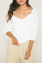 SAGE THE LABEL Tallow Button Top - Product Mini Image