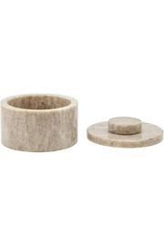 Sagebrook Home Marble Round Box - Front full body