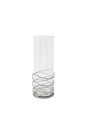 Sagebrook Home Silver Loop Candle Holder - Front cropped