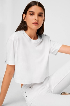 French Connection Sahana Jersey Cropped Tee - Product List Image