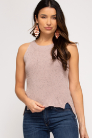 She & Sky  Sahar Knit Sweater Top - Front cropped