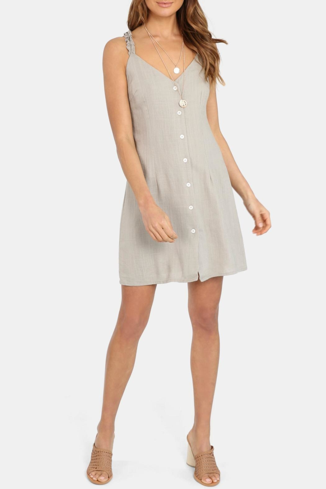 Lost in Lunar Sahara Mini Dress - Front Cropped Image