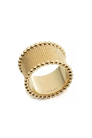 Sahira Jewelry Designs Hammered Band Ring - Front cropped