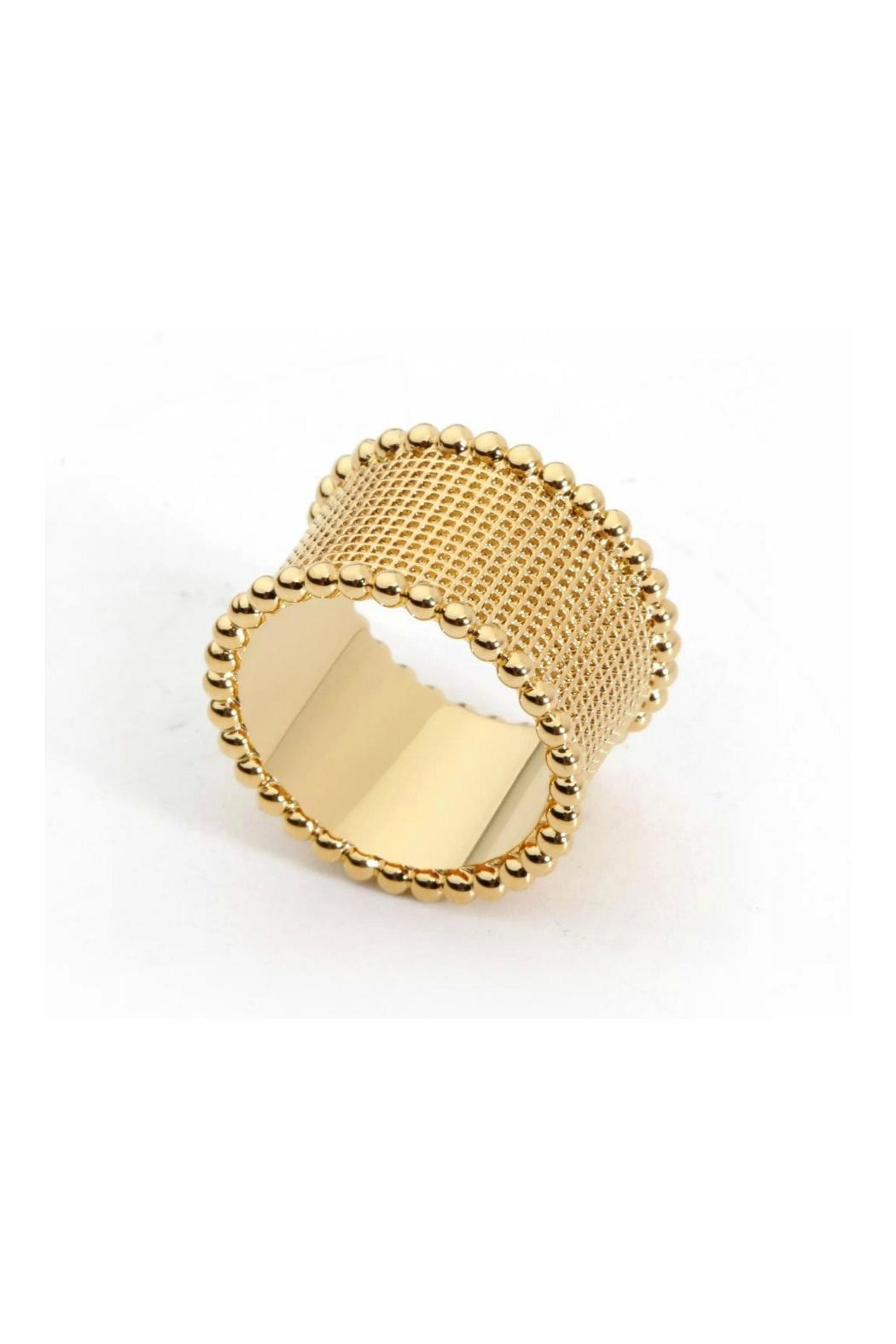 Sahira Jewelry Designs Hammered Band Ring - Front Full Image