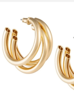 Sahira Jewelry Designs Lexie Tri-Hoop Earrings - Product List Image