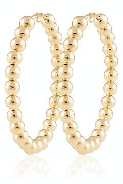 Sahira Jewelry Designs Lia Beaded Hoop - Product List Image