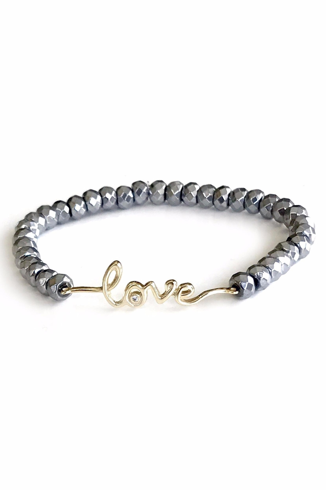 Sahira Jewelry Designs Love Hematite Bracelet - Main Image