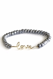Sahira Jewelry Designs Love Hematite Bracelet - Front cropped