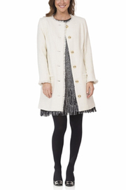 Sail to Sable Cream Tweed Coat - Product Mini Image