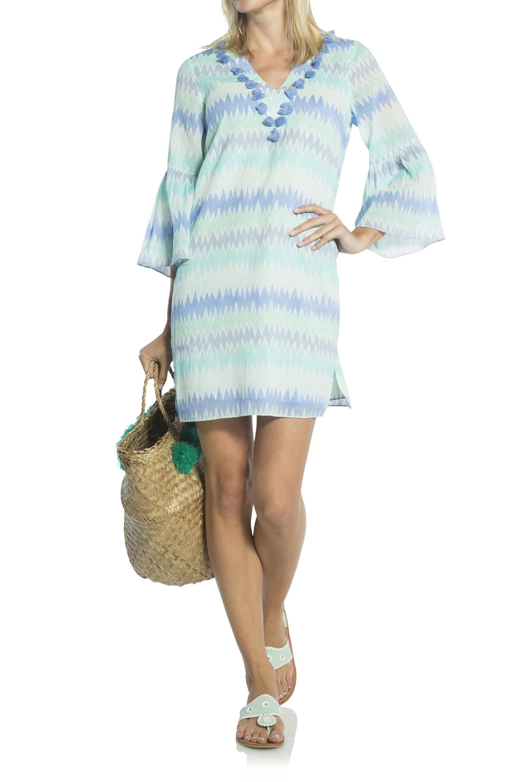 Sail to Sable Flame Print Tunic - Front Cropped Image
