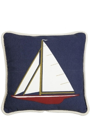 Chandler4Corners Sailboat Canvas Pillow - Front cropped