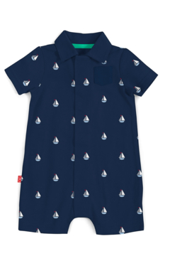 Magnetic Me Sailboat Romper 6-9 - Alternate List Image