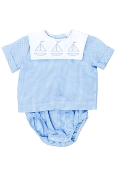 Bailey Boys Sailboat Shadow-Stitched Diaper-Cover-Set - Alternate List Image