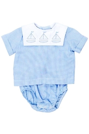 Bailey Boys Sailboat Shadow-Stitched Diaper-Cover-Set - Front full body
