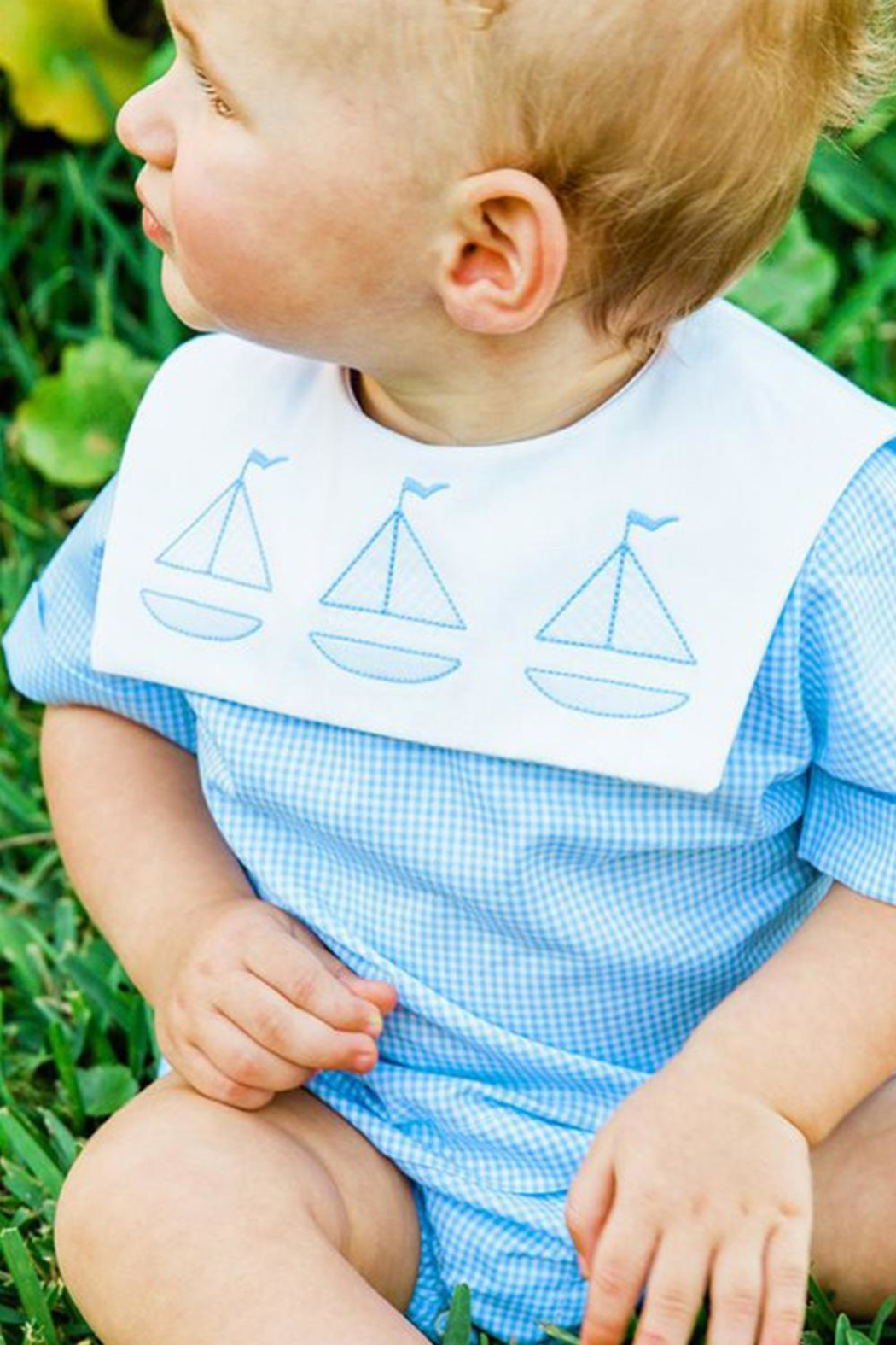 Bailey Boys Sailboat Shadow-Stitched Diaper-Cover-Set - Main Image