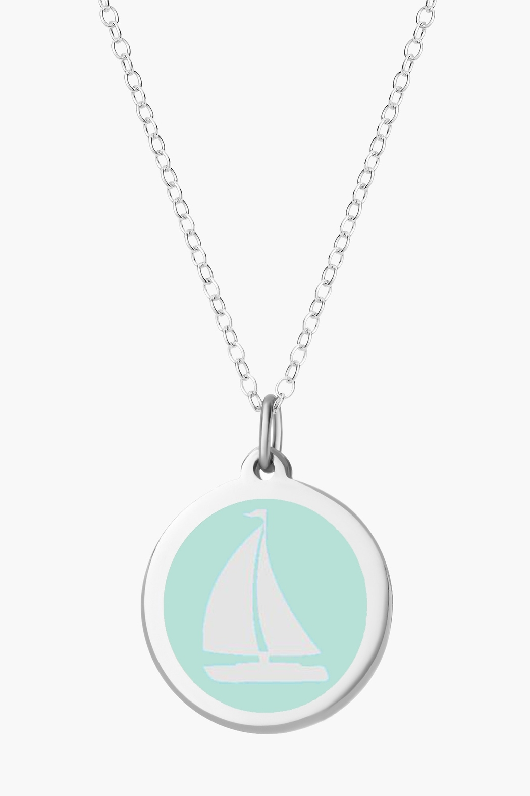 Auburn Jewelry Sailboat Silver Pendant - Original - Main Image