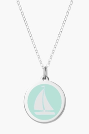 Auburn Jewelry Sailboat Silver Pendant - Original - Front cropped