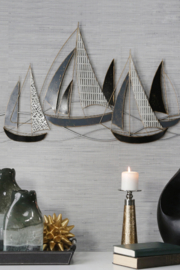 Sagebrook Home SAILBOATS WALL ACCENT - Front cropped