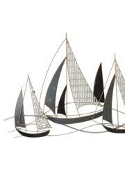 Sagebrook Home SAILBOATS WALL ACCENT - Front full body