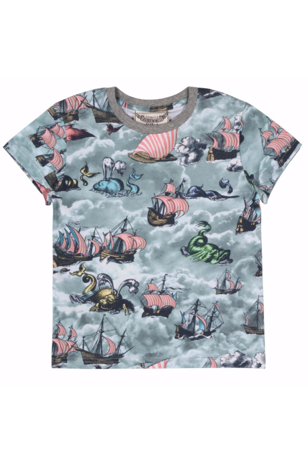 Paper Wings Sailing High Baby Tee - Front Full Image