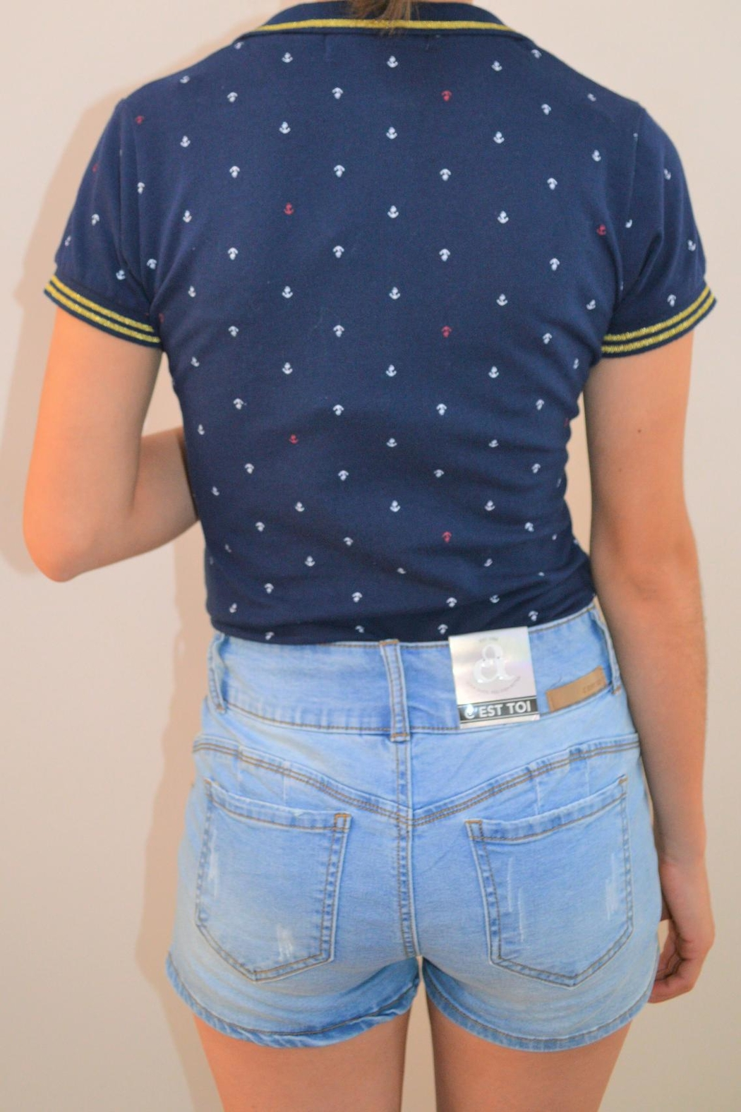 LC DESIGNS COLLECTION Sailor Polo Tee - Side Cropped Image