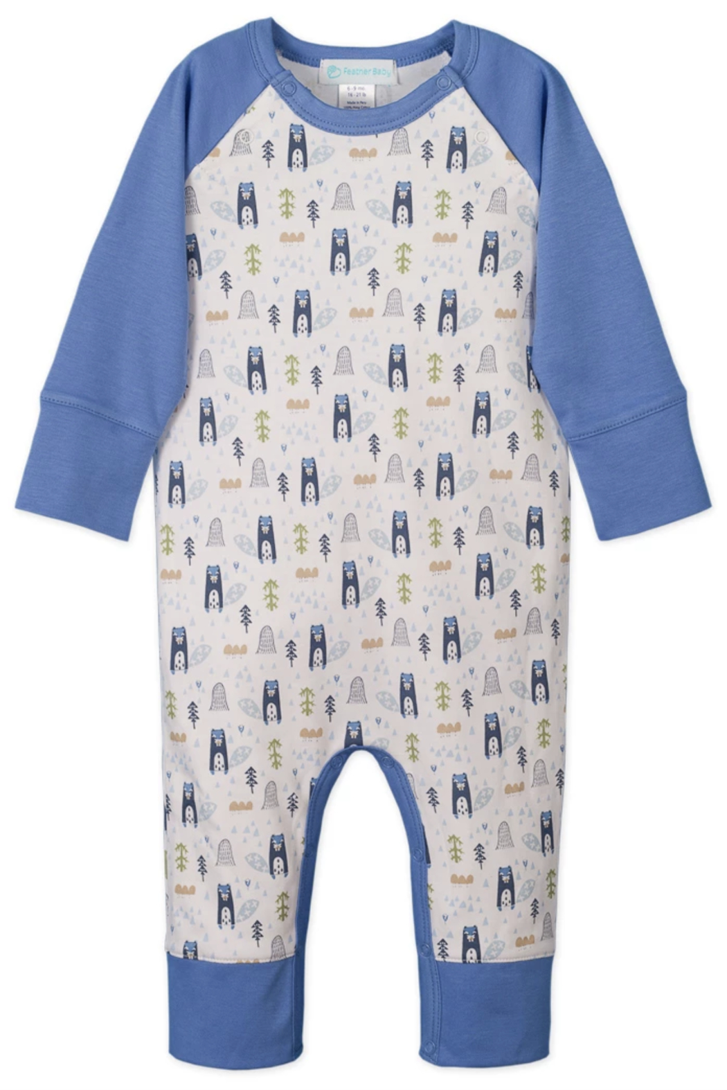 Feather Baby Sailor Sleeve Romper - Main Image