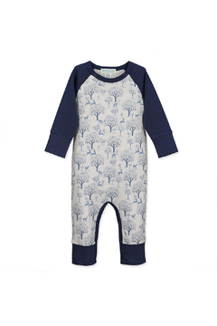 Feather Baby Sailor Sleeve Romper - Deer & Appletrees - Product List Image