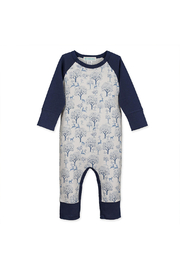 Feather Baby Sailor Sleeve Romper - Deer & Appletrees - Product Mini Image