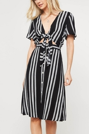 Lyn-Maree's  Sailor Stripe Knot Dress - Product Mini Image
