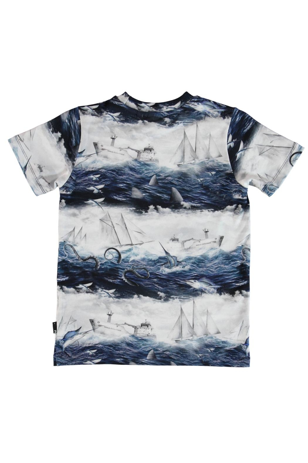 Molo Sailor Stripe T-Shirt - Front Full Image