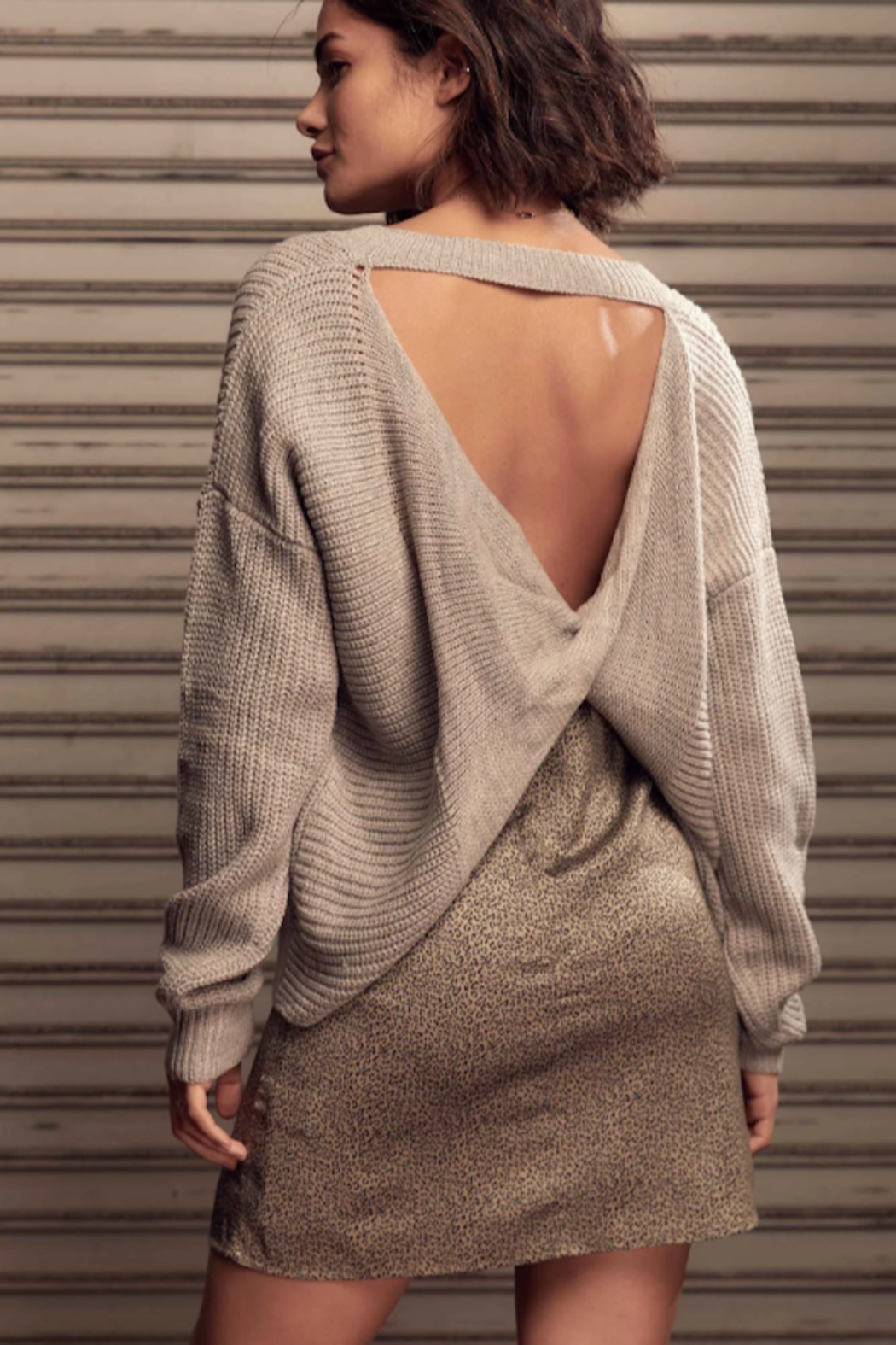 SAGE THE LABEL Saint Reversible Sweater - Front Full Image