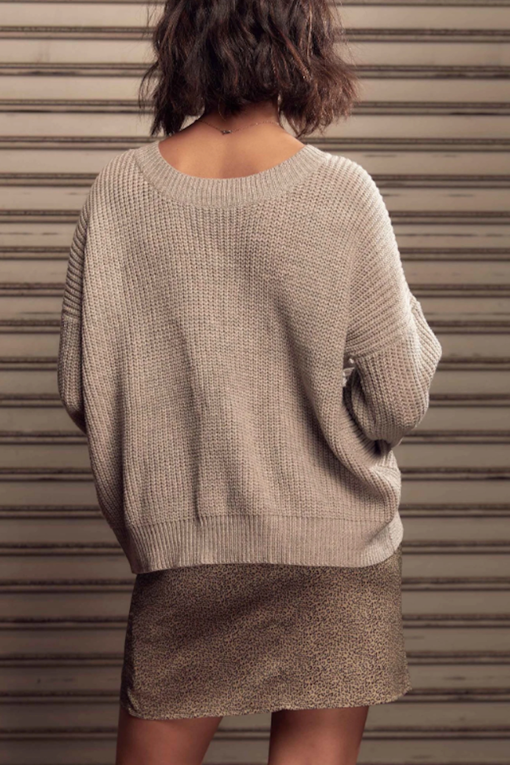 SAGE THE LABEL Saint Reversible Sweater - Back Cropped Image