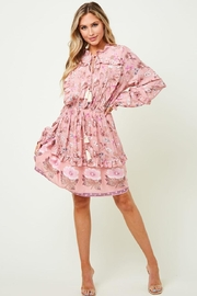saints and hearts Ruffled Floral Dress - Product Mini Image