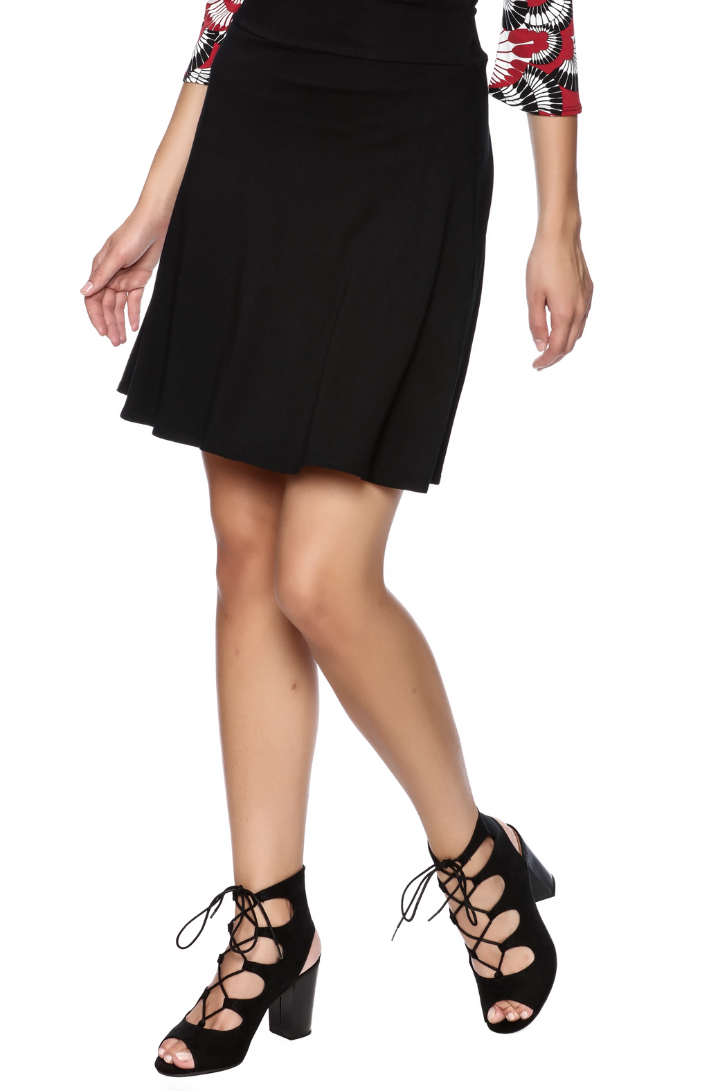 salaam Black Short Flippy Skirt - Main Image