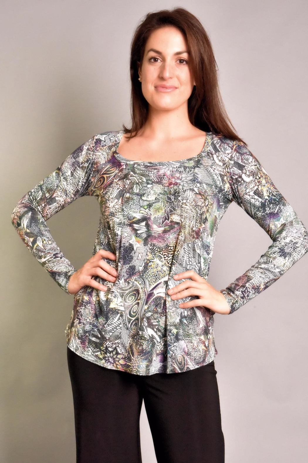 salaam Maddy Printed Top - Front Cropped Image