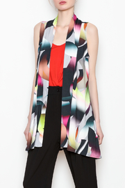 salaam Multi Colored Vest - Front full body