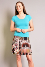 salaam Printed Flippy Skirt - Front cropped