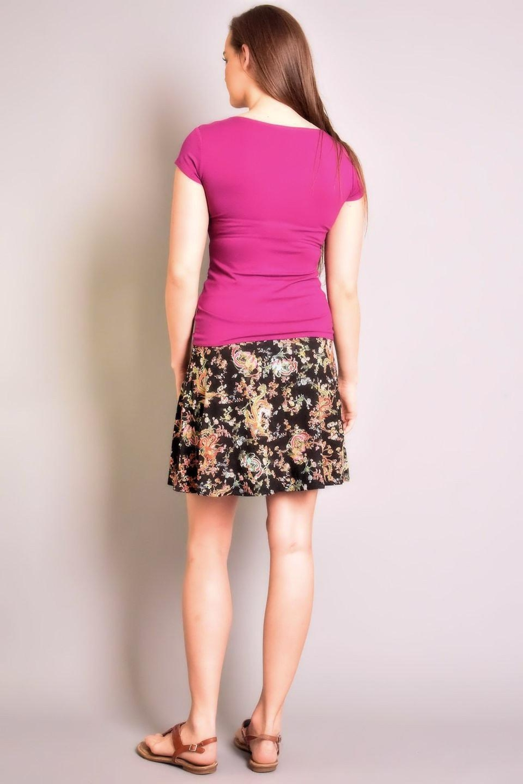 salaam Printed Flippy Skirt - Side Cropped Image