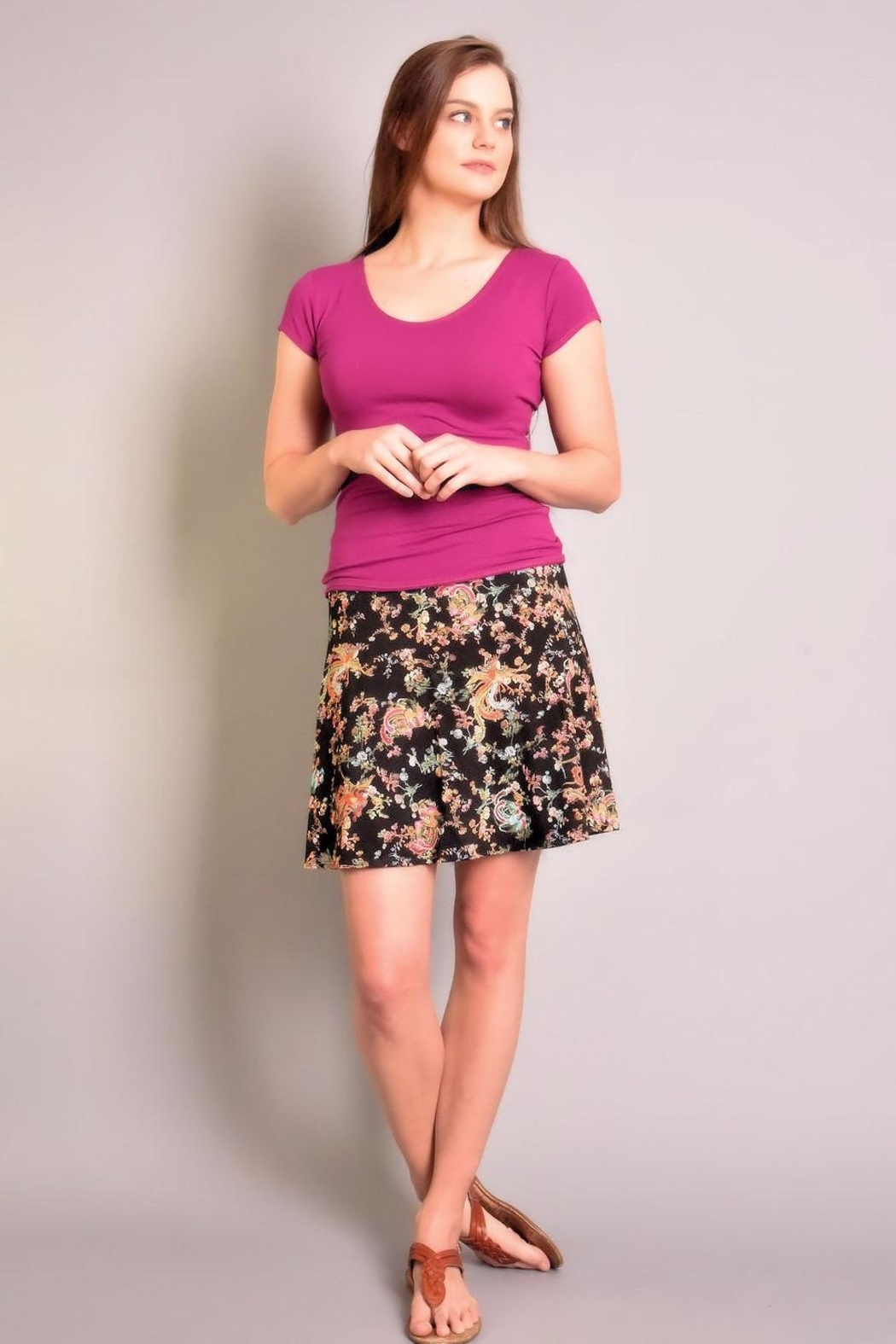 salaam Printed Flippy Skirt - Front Cropped Image
