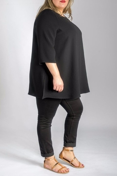 Sallie Sahne Elegant Long Shirt - Alternate List Image