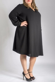 Sallie Sahne Sartorial Longsleeved Dress - Product Mini Image