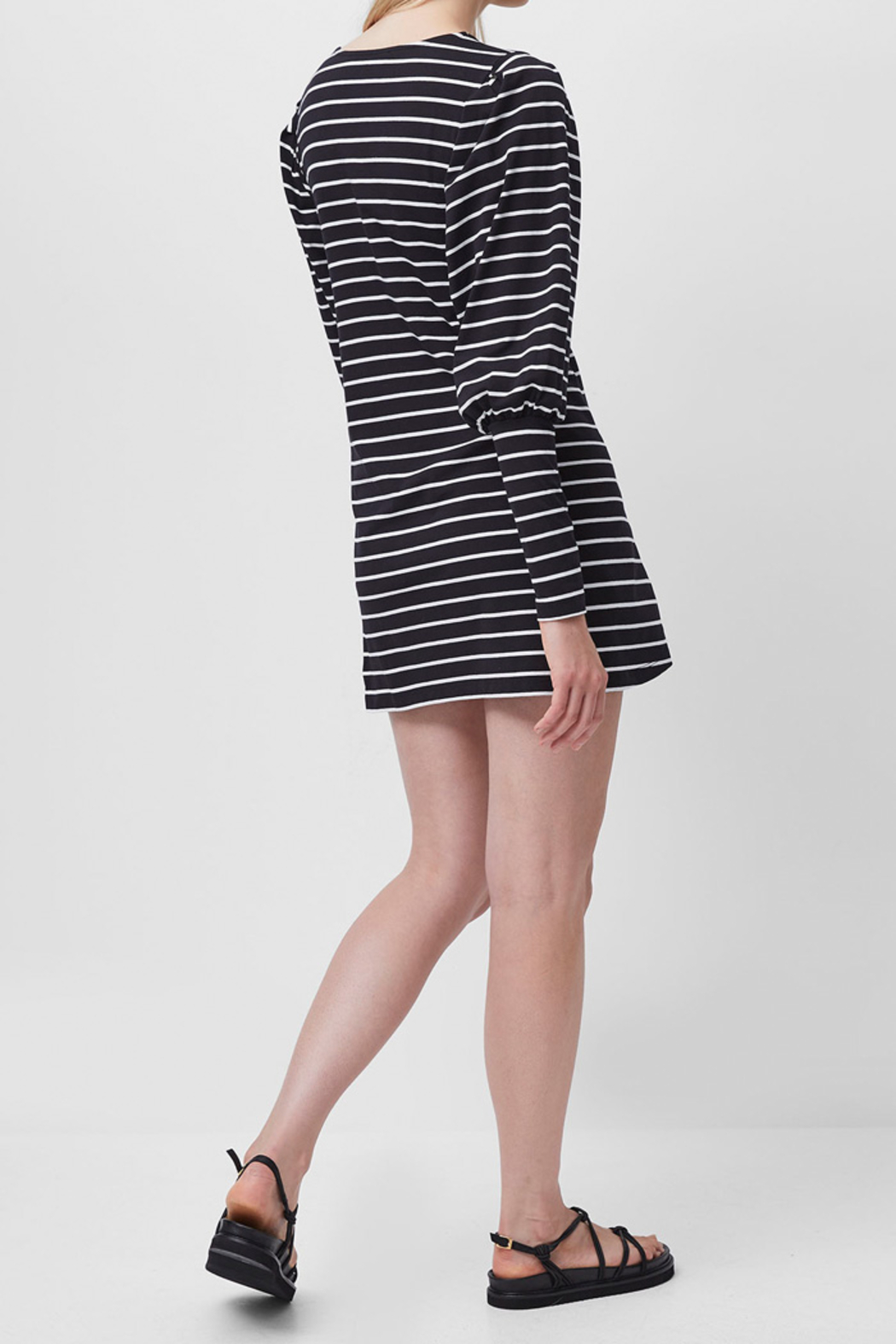 French Connection Sally Stripe Jersey Dress - Side Cropped Image