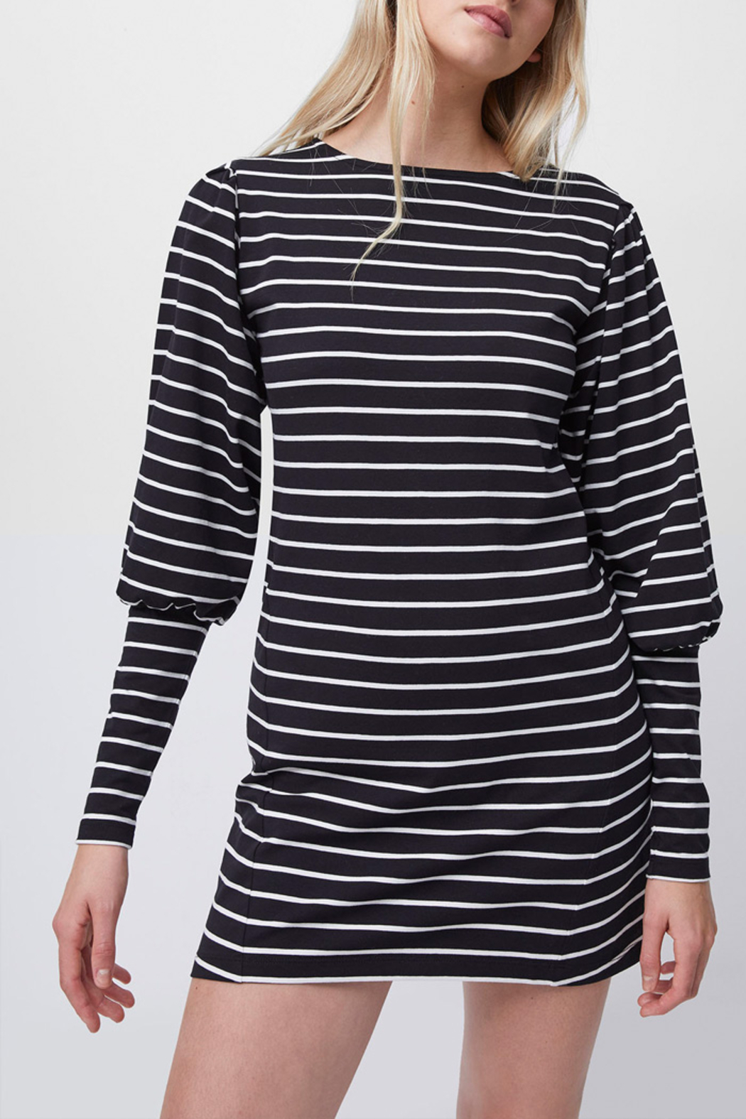 French Connection Sally Stripe Jersey Dress - Main Image