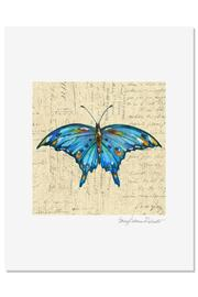 Sally Eckman Roberts Blue Butterfly Print - Product Mini Image