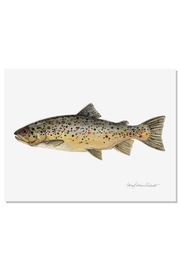 Sally Eckman Roberts Brown Trout Print - Front cropped