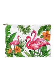 Sally Eckman Roberts Flamingo-Tropics Small Pouch - Product Mini Image