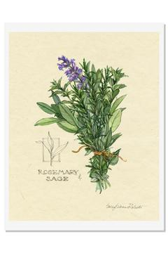 Sally Eckman Roberts Herbs Print-Rosemary Sage - Alternate List Image